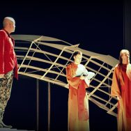 The Magic Flute rehearsal - Tamino (Gilles Bersier), Speaker of the temple(Geoffroy Perruchoud) and the priest