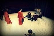 The Magic Flute rehearsal - relaxing after runtrought