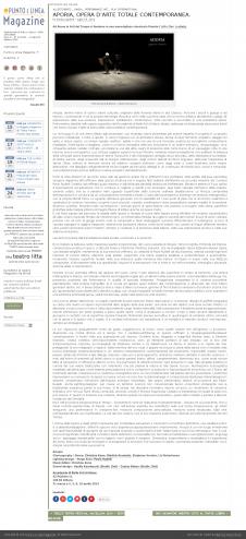 Aporia recensione - Punto e Linea Magazine