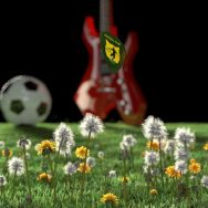 New Blender video commercial - Plettro, ball, grass and guitar using Blender