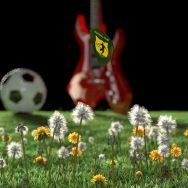 Nuovo Video commercial con Blender - Plettro, palla da calcio, prato e chitarra fatti con Blender